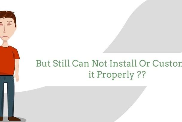 install,customize,fix Errors Of Wordpress