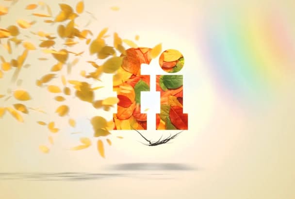create this Amazing Leaves Logo Intro