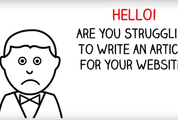 write 2 unique articles 500 words