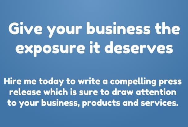 draft and submit a press release for your business