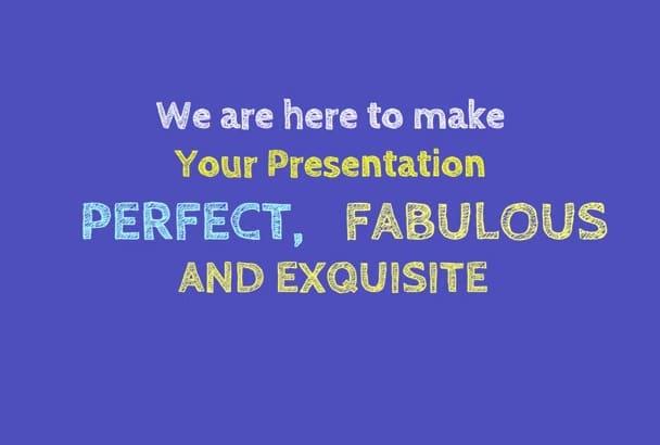 create a professional  PP Presentation