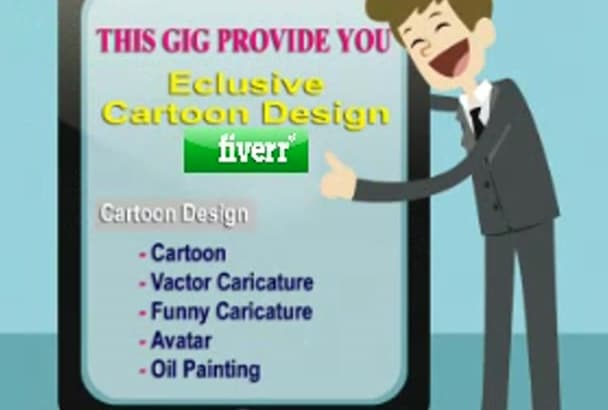 do caricature and cartoon design into your photo