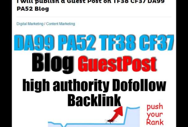 publish a Guest Post on TF38 CF37 DA99 PA52 Blog