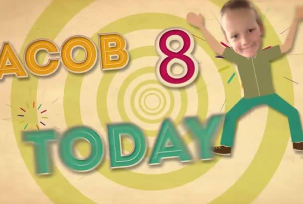 create a Fun Happy Birthday Video