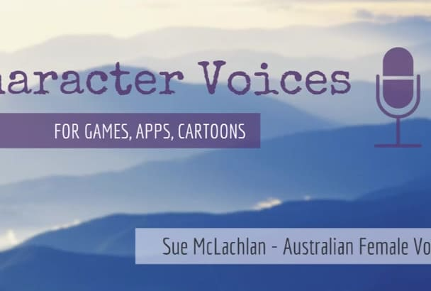 be your Australian female character or game voice