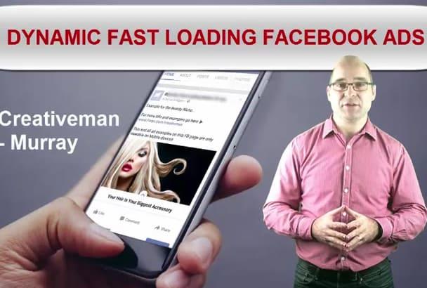 create a DYNAMIC Fast Loading Mobile Facebook Ad