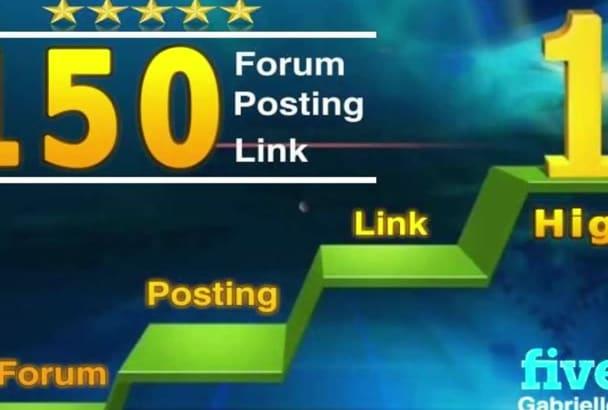 do 150 high quality forum posting link