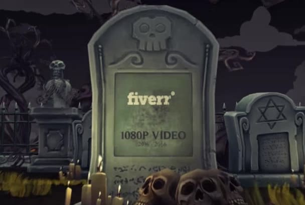 do make Halloween video using your logo and texts