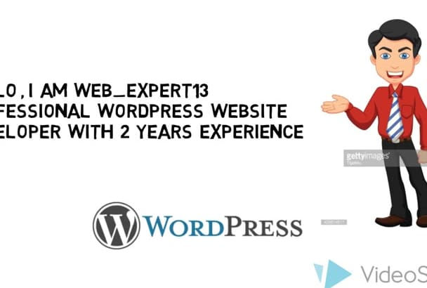 create a responsive Business WordPress website with blog