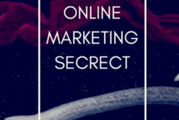 send you secrect of 5 formula for ultimate marketing online