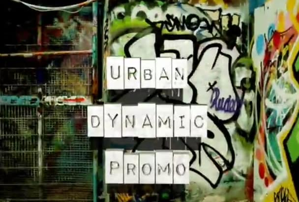 design a COOL Urban Style Street Art Video Presentation