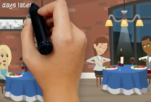 make you a wedding animation invitation