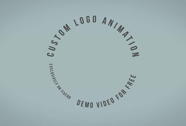 make a custom logo animation