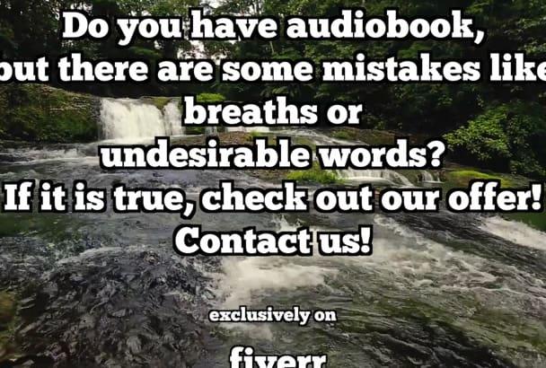 edit an audio book to meet ACX standard