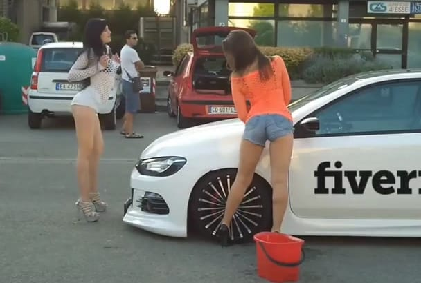 put Your Logo on a Seductive Car Washing Video