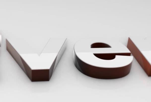 create clean white 3D logo or text animation intro