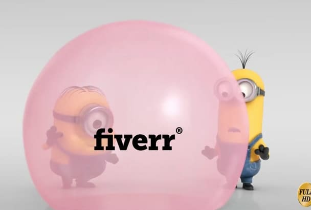 create funny video promo by minions