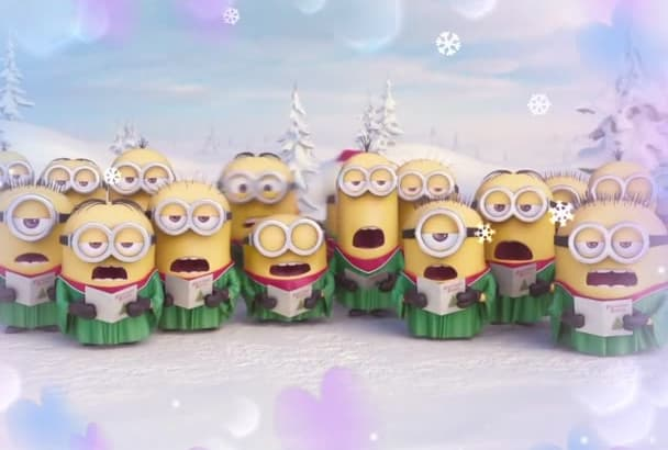 make a Christmas Video with Funny Minions