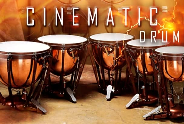 add heroic cinematic drums to your music or video