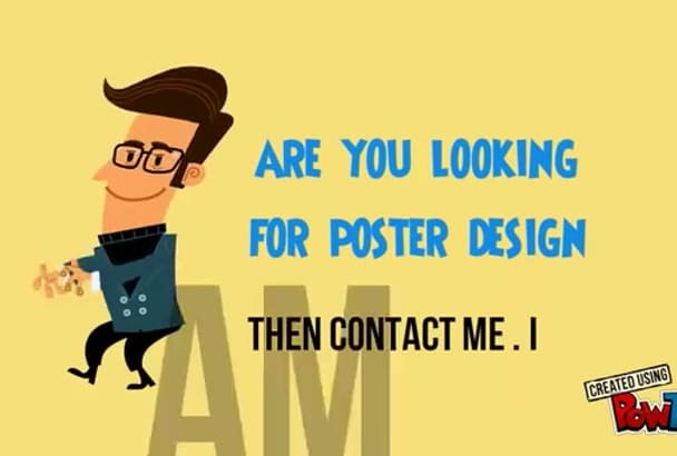 do flyer and poster design for you