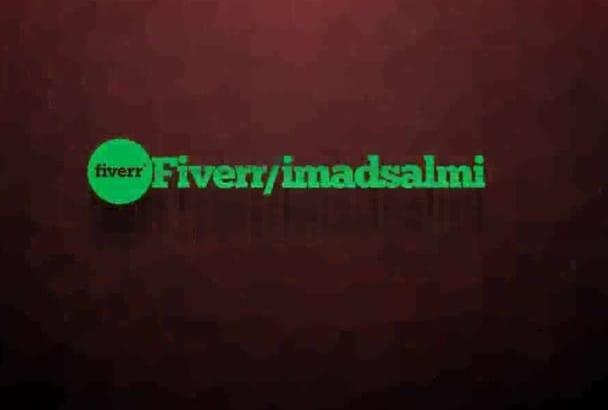create animated logo intros