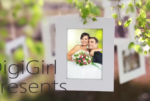 design wedding day, save the date, anniversary video