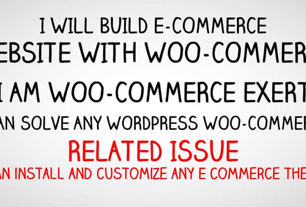 build E commerce website with Woo commerce