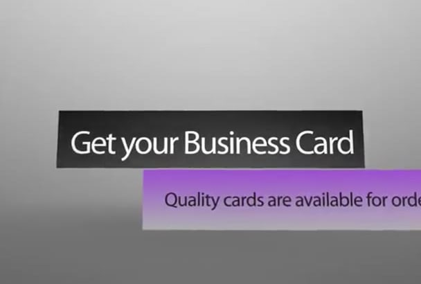create business card for you