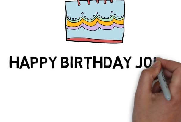 make animation birthday video