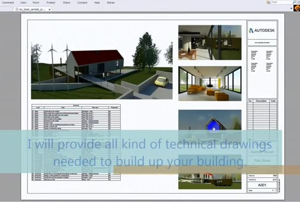 provide BIM services with Revit and Autocad