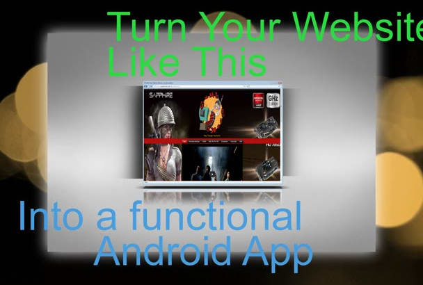 create a App from your website, icon and upload to GOOGLE play