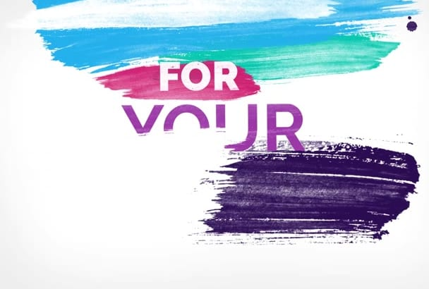 do Color full Brush Typography Commercial video