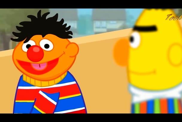 create standard animated cartoon movie