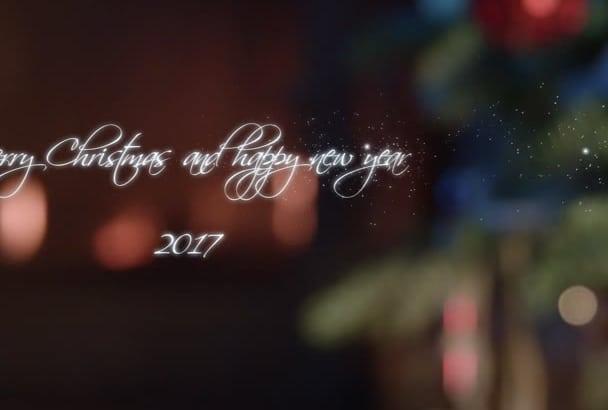 write christmas message 2017