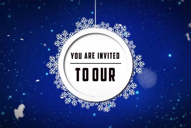this amazing xmas video invitation
