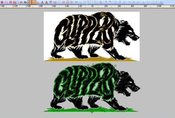 do convert image to embroidery digitizing 1hour