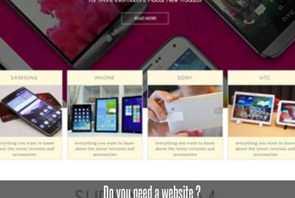 create responsive html website in 24 hours