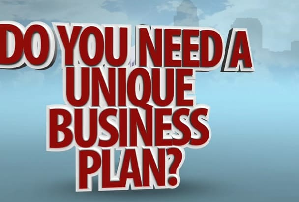 write unique business plan in 12 hours