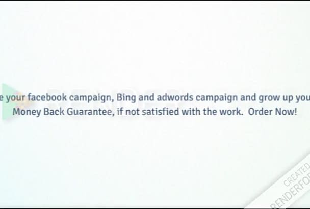 build your FB, AdWords or Bing campaign in just 12 Hours