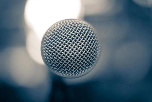 deliver a professional North American male voice over