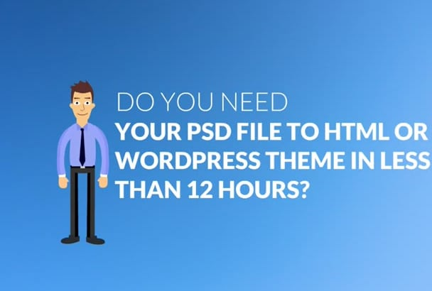 convert Psd or Html to WordPress
