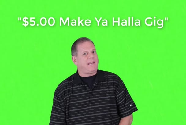 create a green screen video testimonial