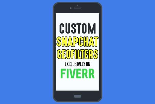 design a custom Snapchat GEOFILTER