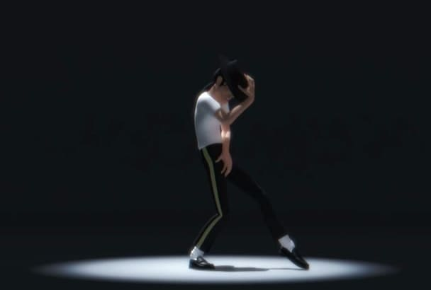 put your logo and text Micheal jackson animated video