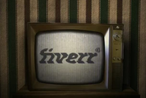 logo intro on Old Broken TV
