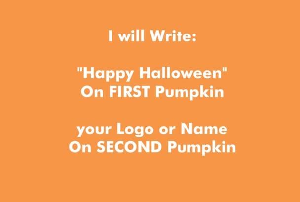 make Halloween Personalized Pumpkins