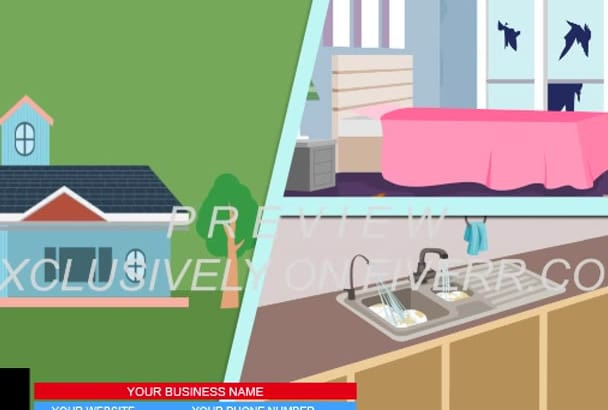 create HOME Cleaning Services  Explainer Video