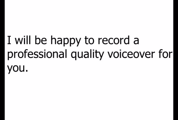 record voiceover today, free music, radio show host