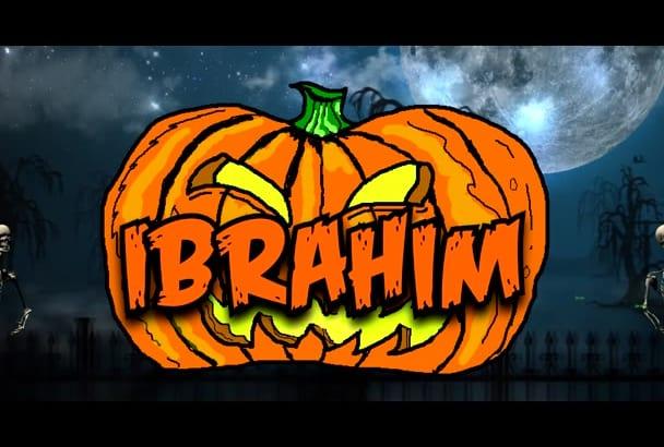 create Halloween Animation intro