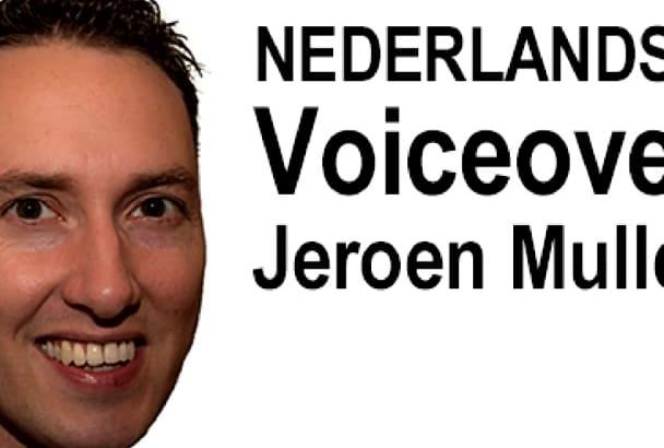 nederlandse voiceover vandaag nog opgenomen